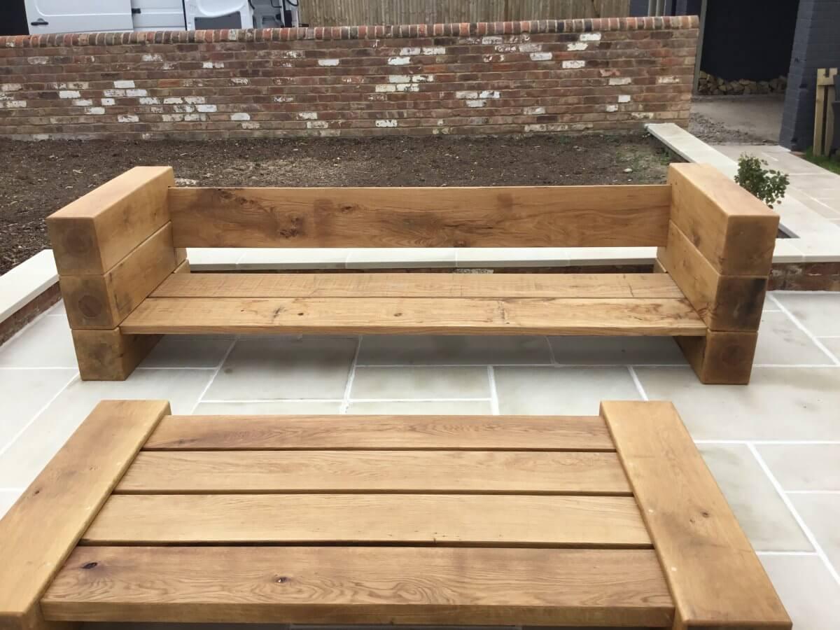 Oak Garden Furniture Hademade By OJ Joinery